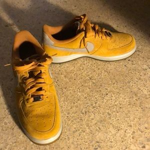 Mustard/Yellow Air force ones Nike Mens size 10